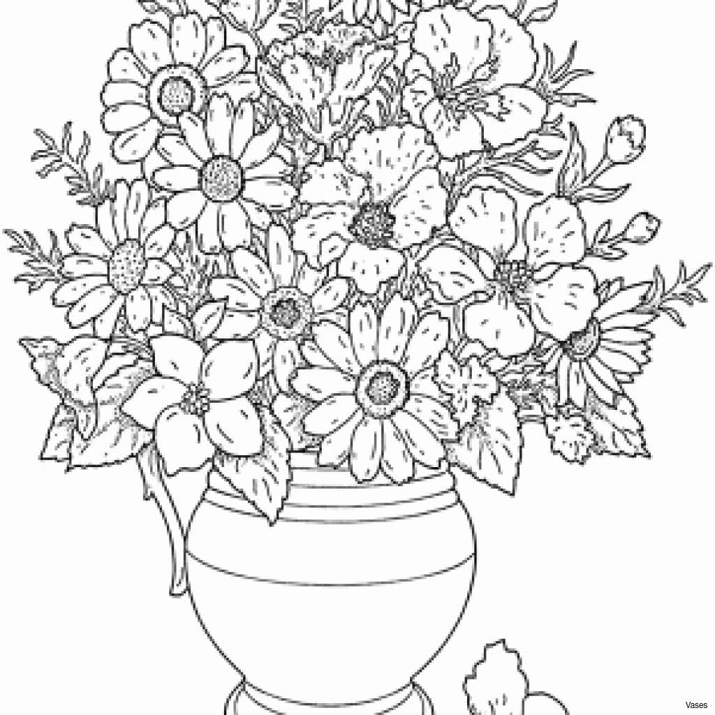 Coloring Pages Flowers Best Vases Flower Vase Coloring Page