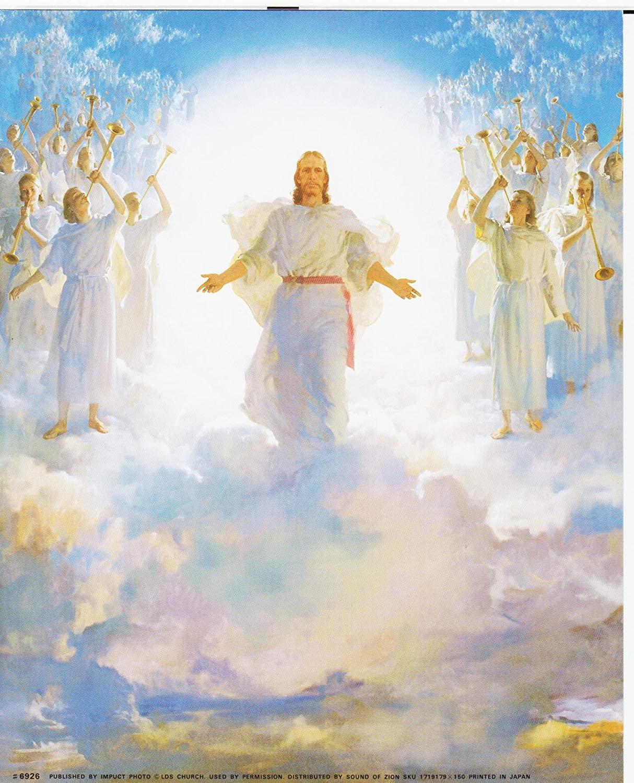 Amazon Com  Jesus Christ (second Coming) Religious Art Print