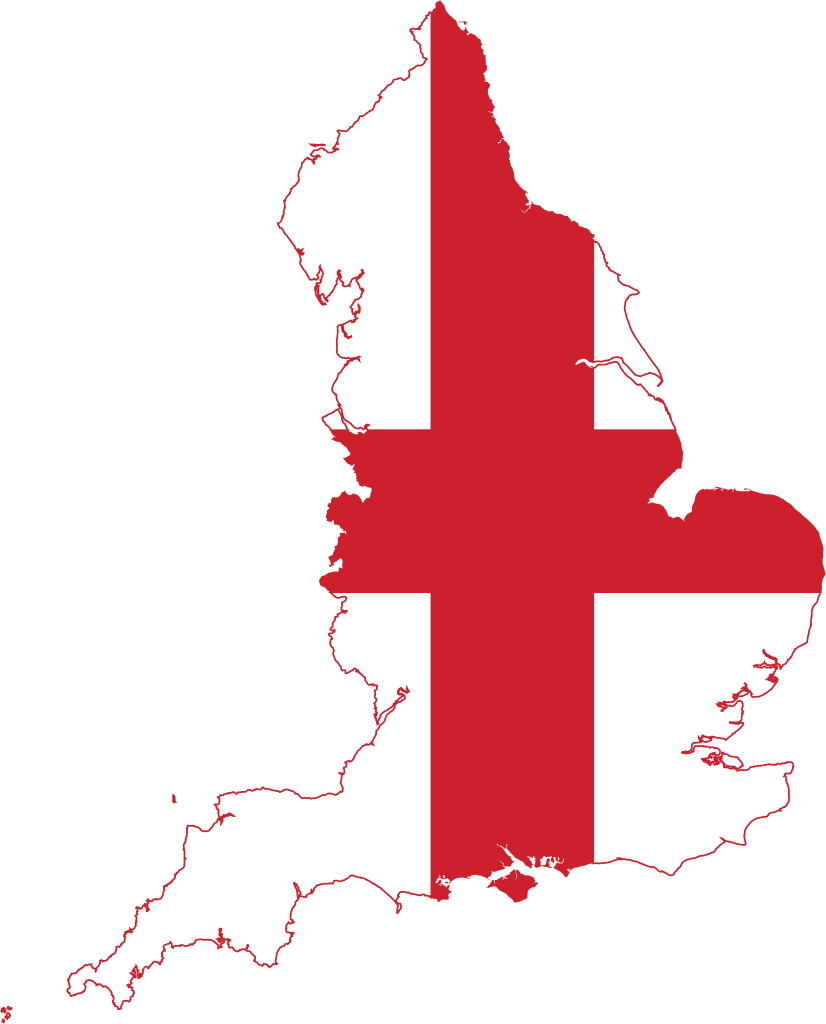 File Flag Map Of England Svg