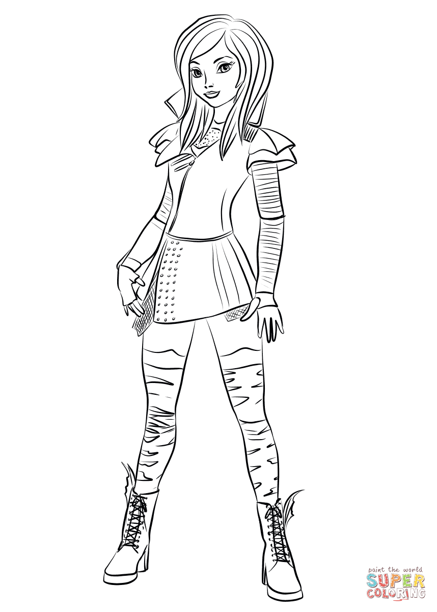 Mal Coloring Pages