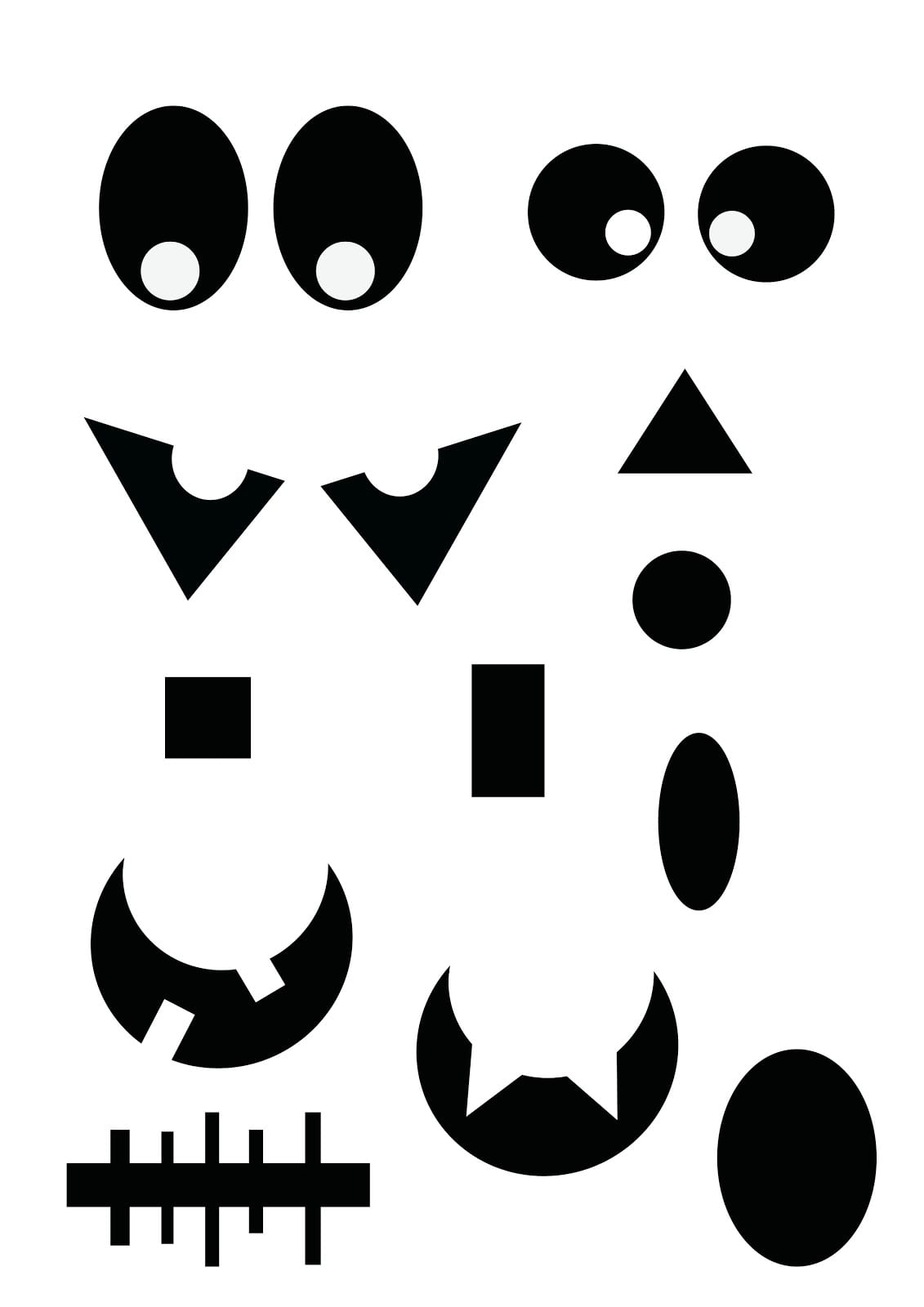 Free Printable Ghost Faces, Download Free Clip Art, Free Clip Art