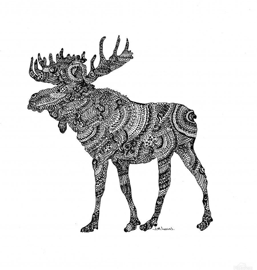 Doodling Moose