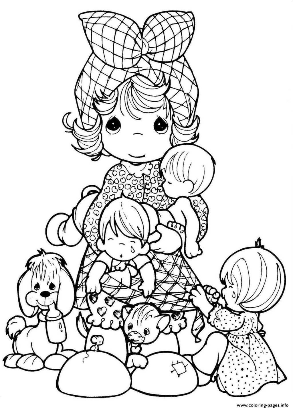 Precious Moments Family Coloring Pages