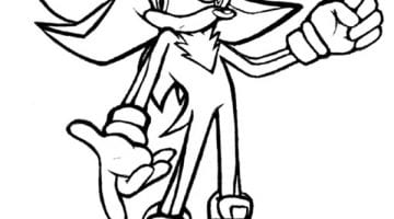 Sonic Boom Colouring Pages