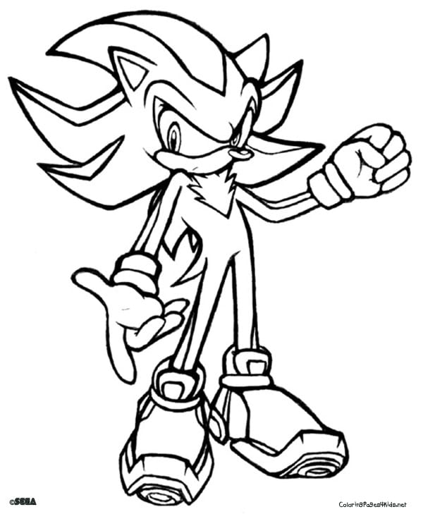 Actor Amy Rose Coloring Page Sonic The Hedgehog Printable Pages
