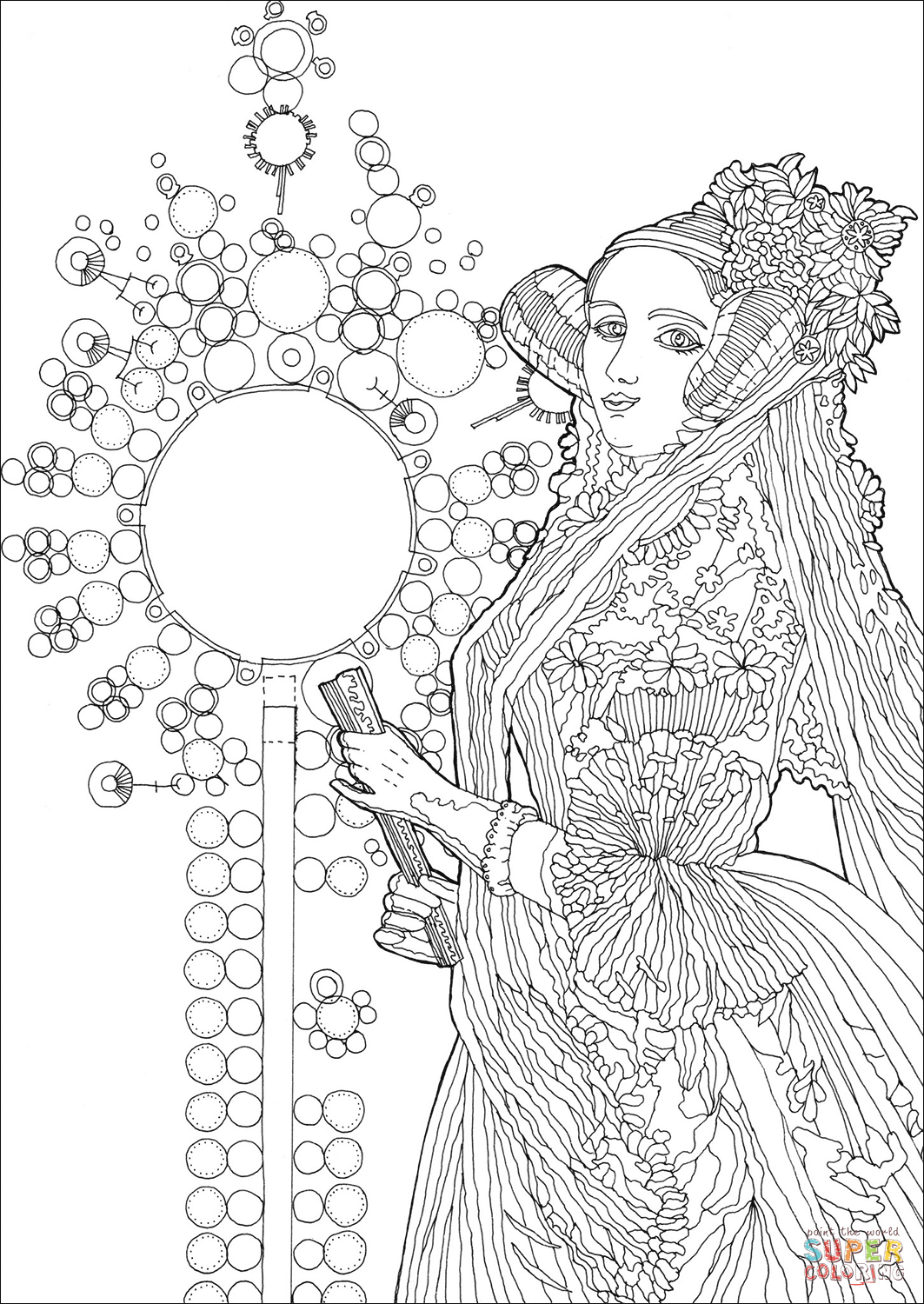 Ada Lovelace Coloring Page