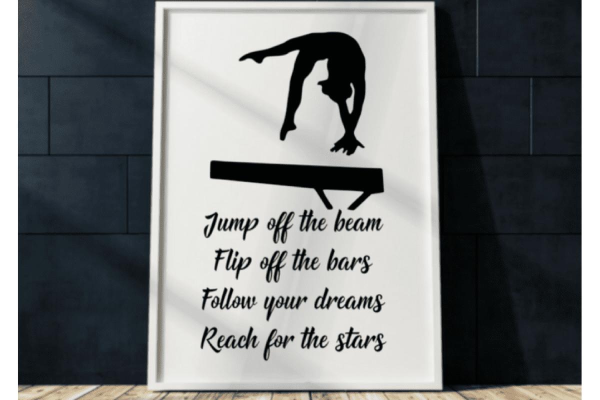 Gymnastics Wall Art Print Printable Gymnastics Printable Picture