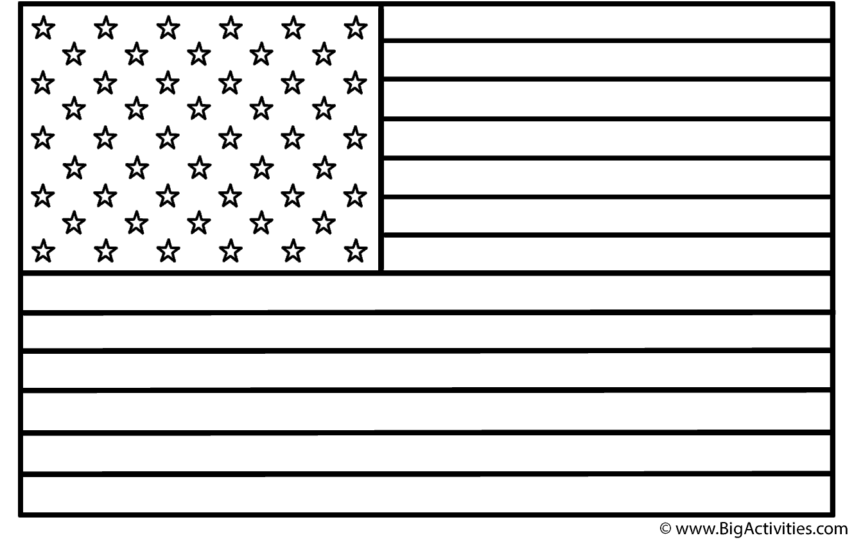American Flag Coloring Sheet