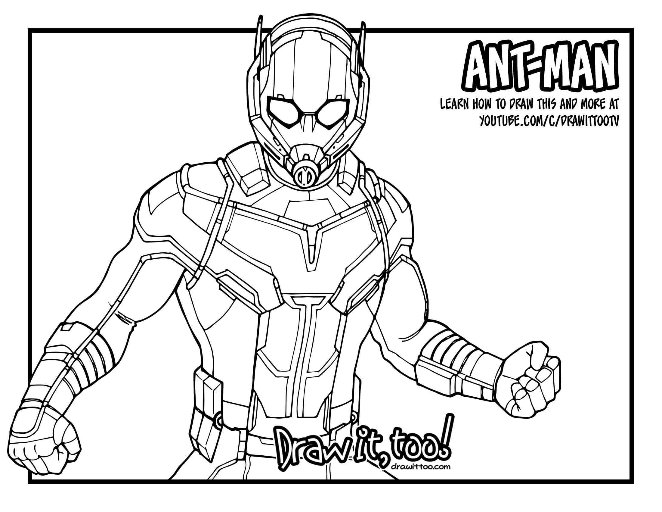 Ant Man Coloring Pages Freecolorngpages Co For