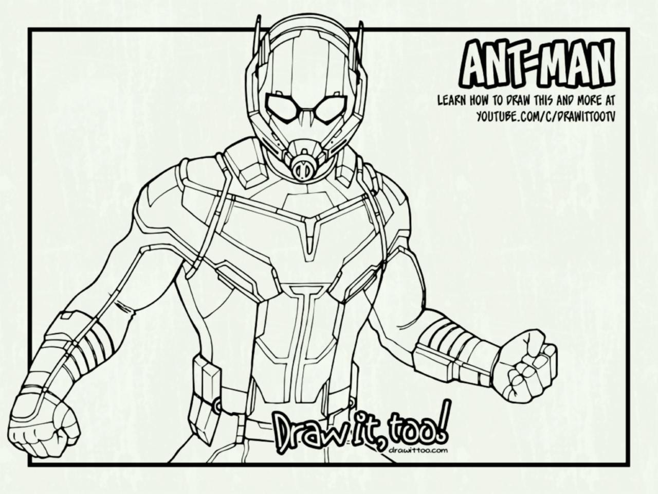 Ant Man Coloring Pages Lenito Inside