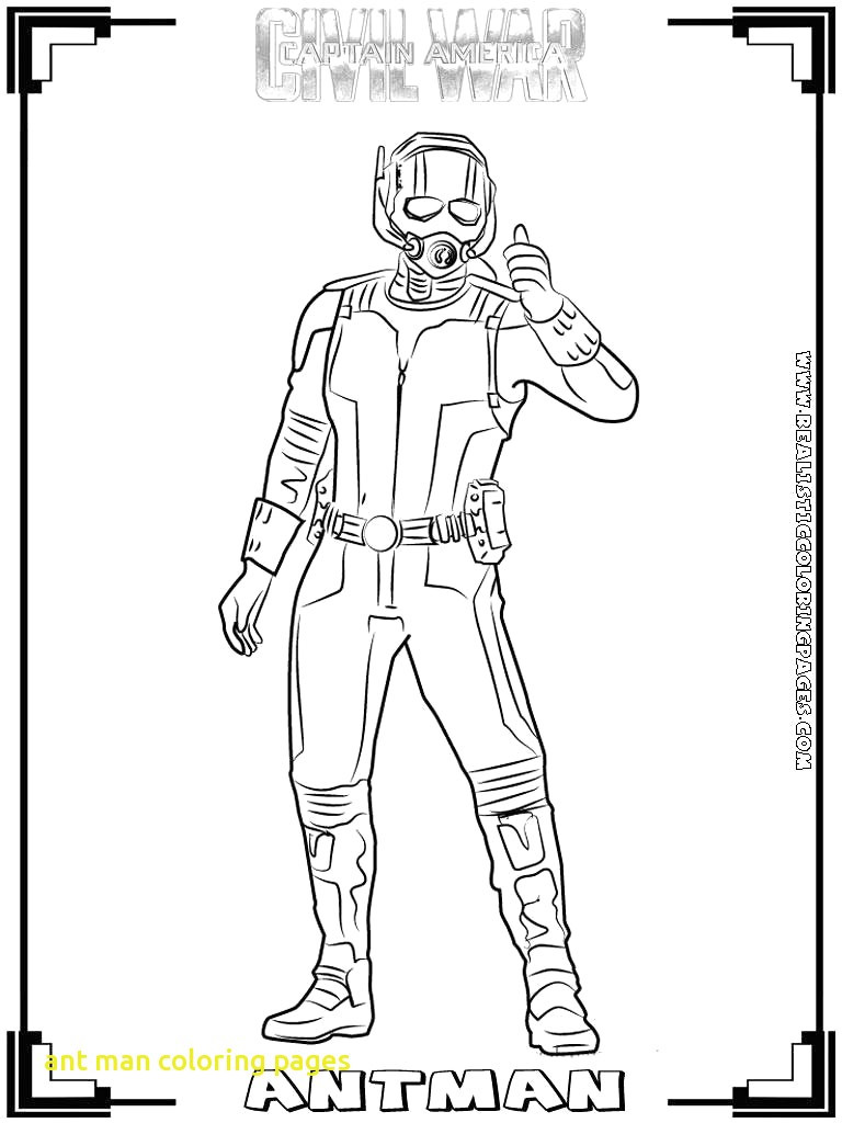 Ant Man Coloring Pages With Avengers For Kids And Toddler Fun Of