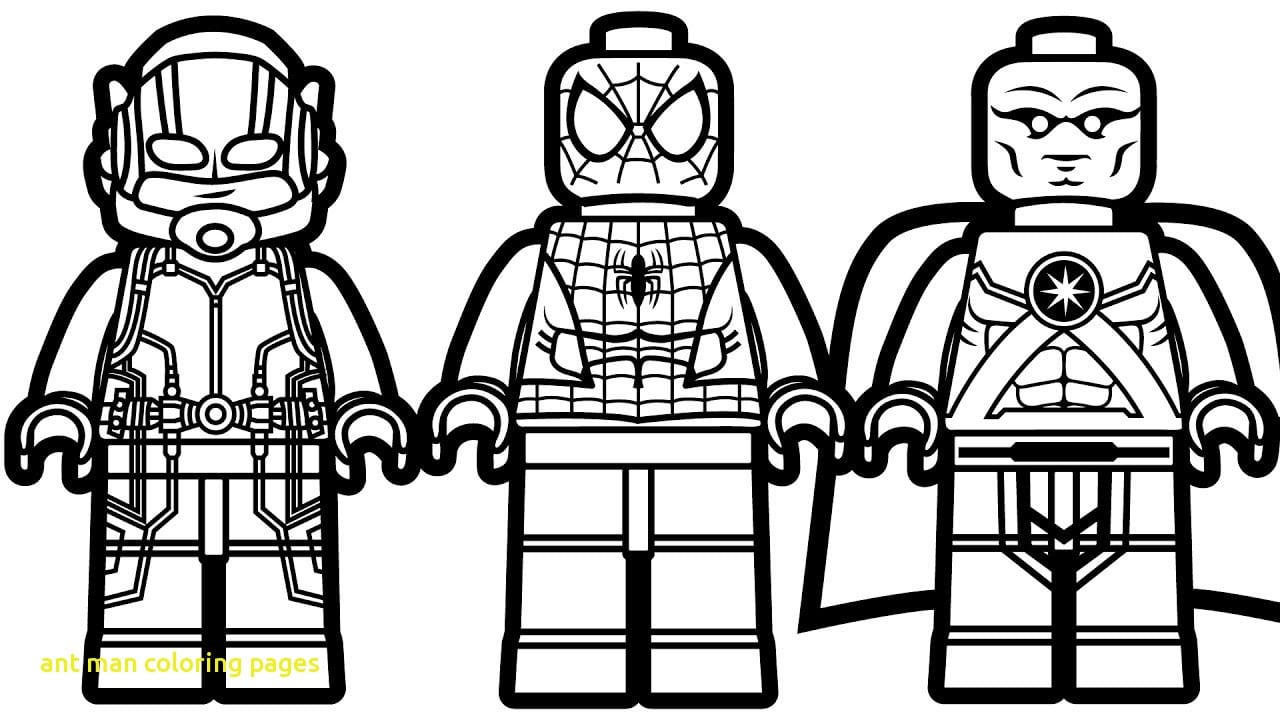 Ant Man Coloring Pages With Of 1 On Antman