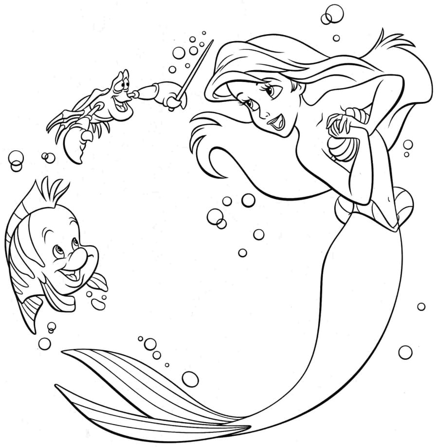 Ariel Little Mermaid Coloring Pages In Princess Arial