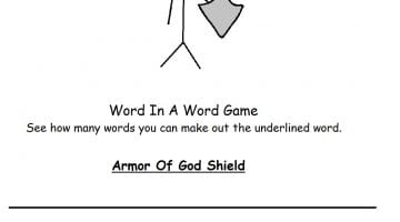 Armor Of God Activity Pages
