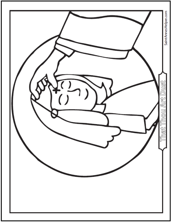 Coloring Pages  Lent Coloring Pages For Kids