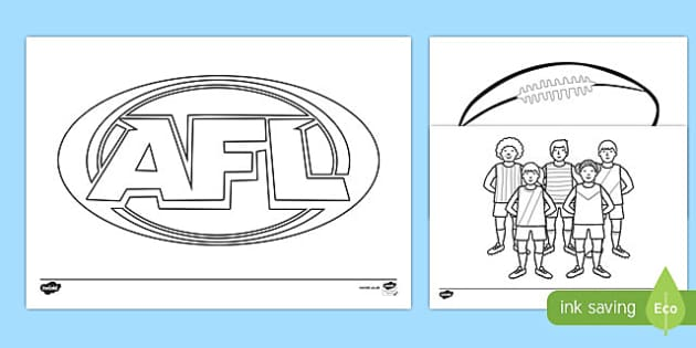 Australian Football Coloring Pages