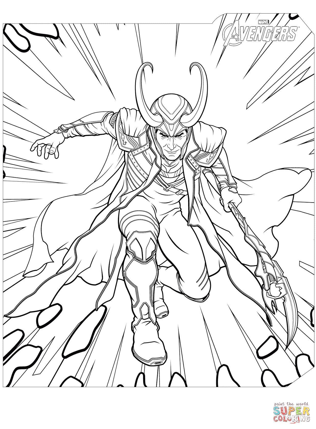 Loki Coloring Pages  2455098