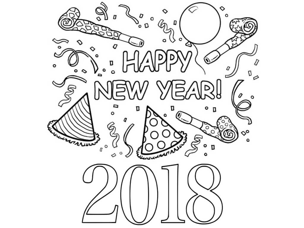 Awesome Special New Year Coloring Pages Free Printables Home