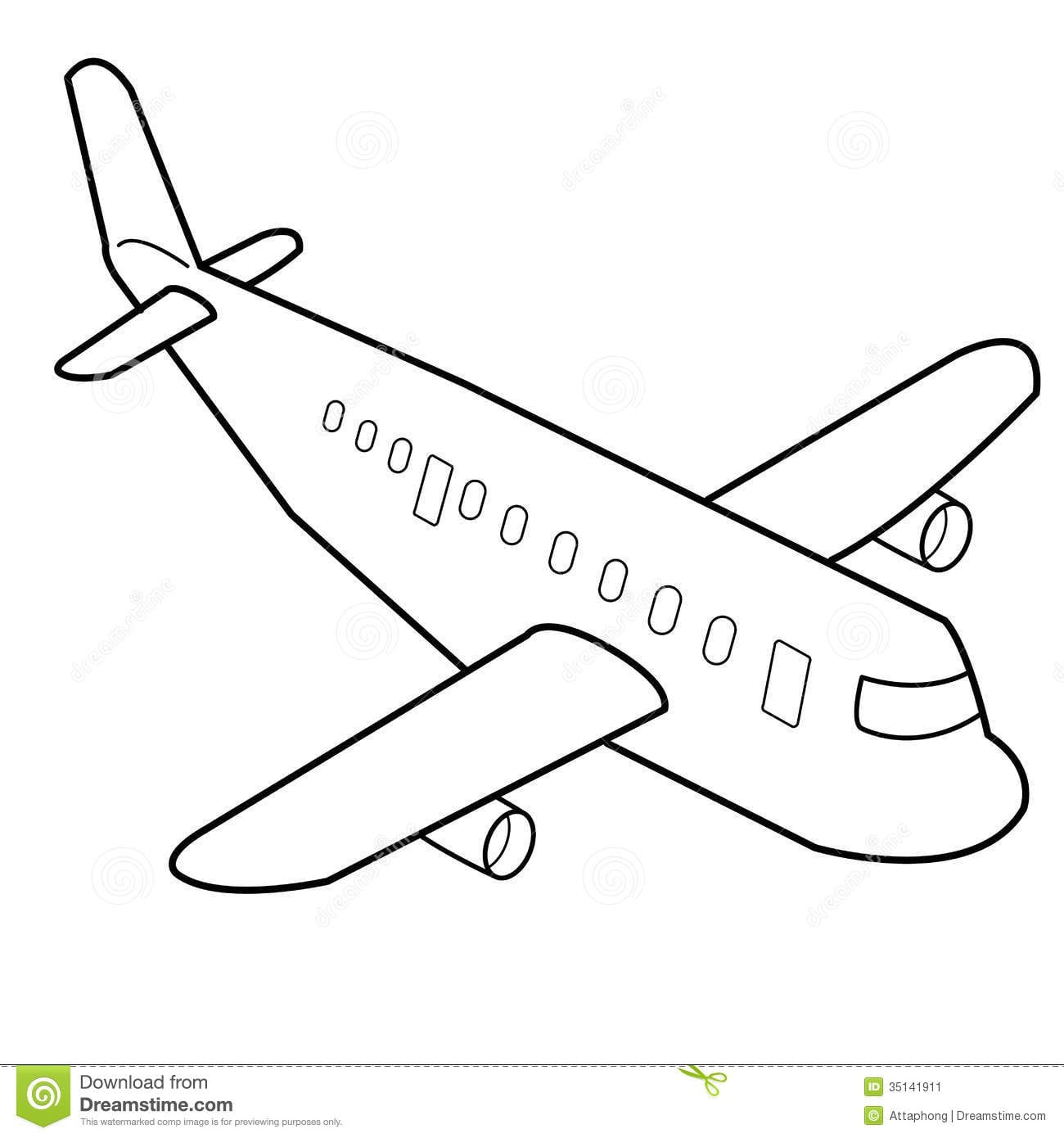 28+ Collection Of Aeroplane Outline Drawing