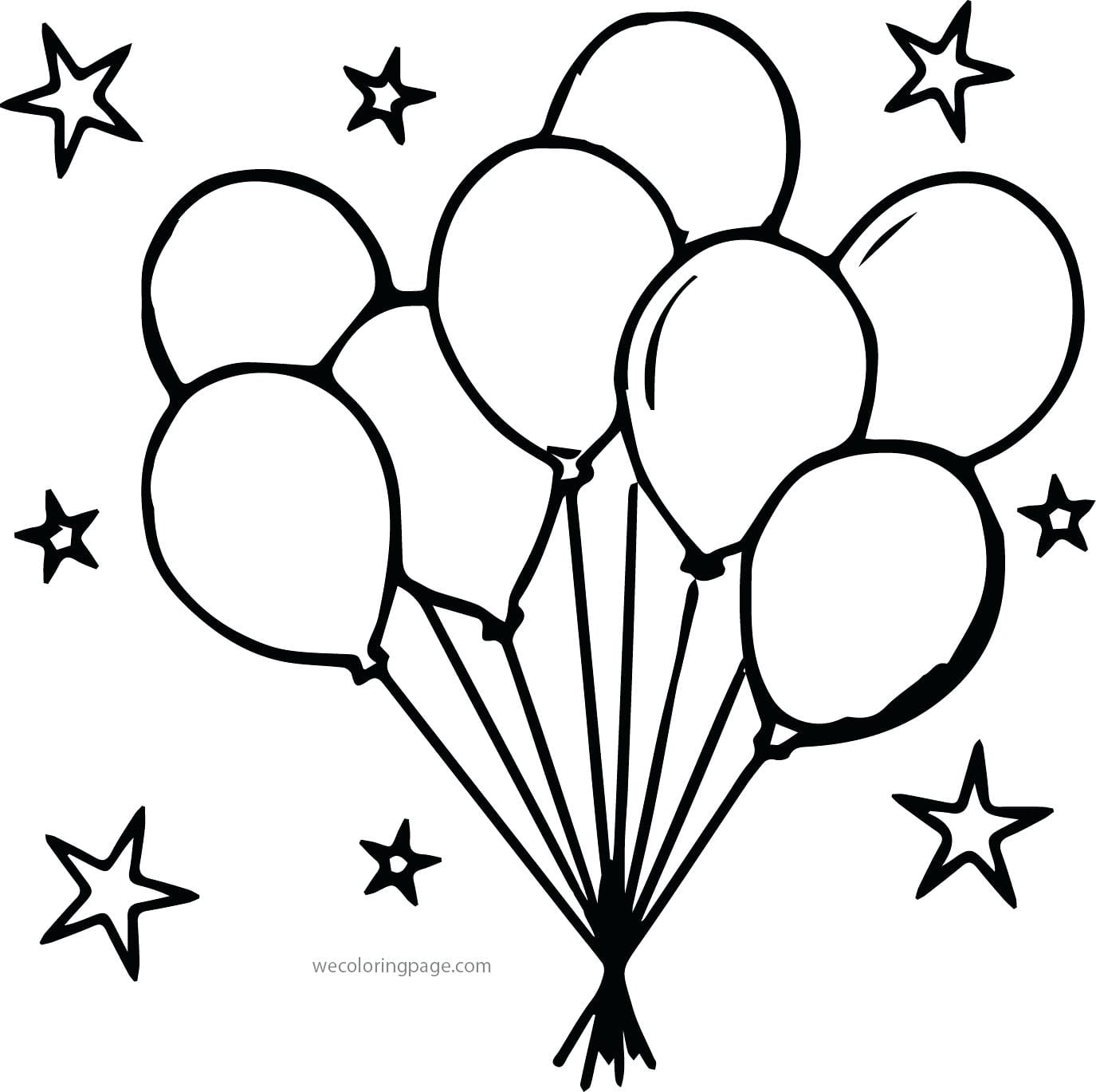 Balloons Coloring Pages 47 With Balloons Coloring Pages