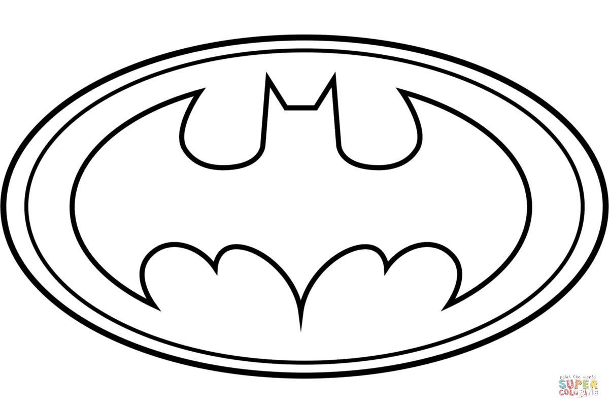 Batman Logo Coloring Page