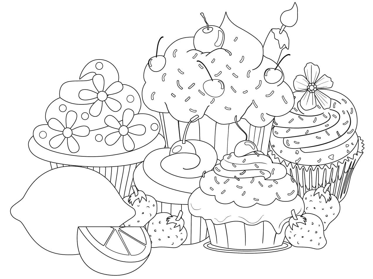 Cupcake Coloring Pages Best Coloring Printable