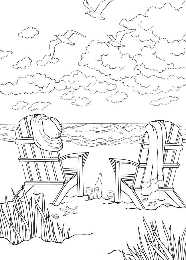 Beach Coloring Page 3  3897