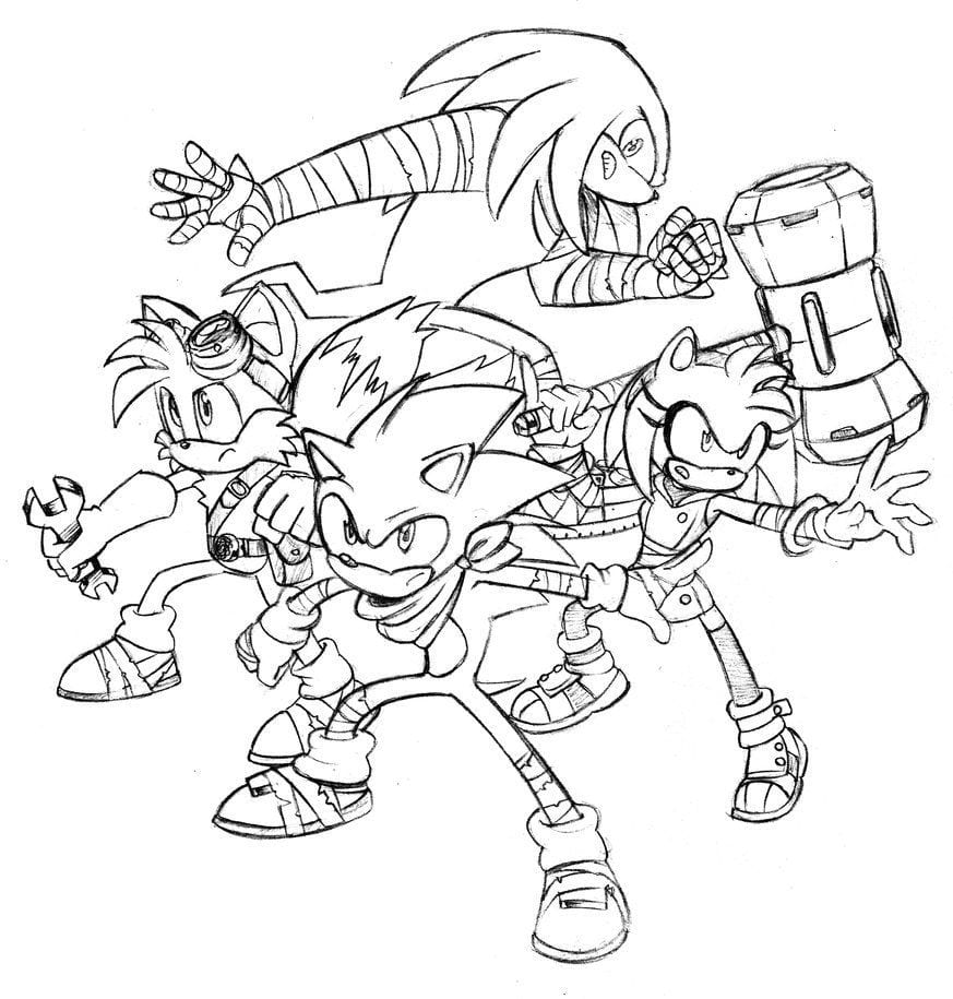 Best Sticks Sonic Boom Coloring Pages For Entrancing In