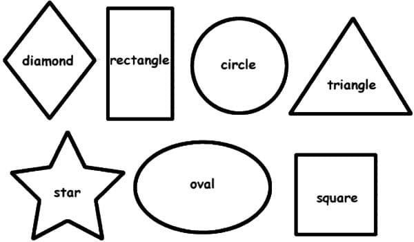 Creative Preschool Shapes Coloring Pages 28 In With Preschool