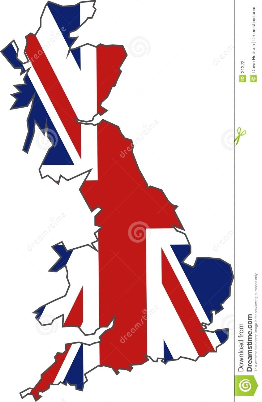 British Flag Map Stock Vector  Illustration Of Designs, Union