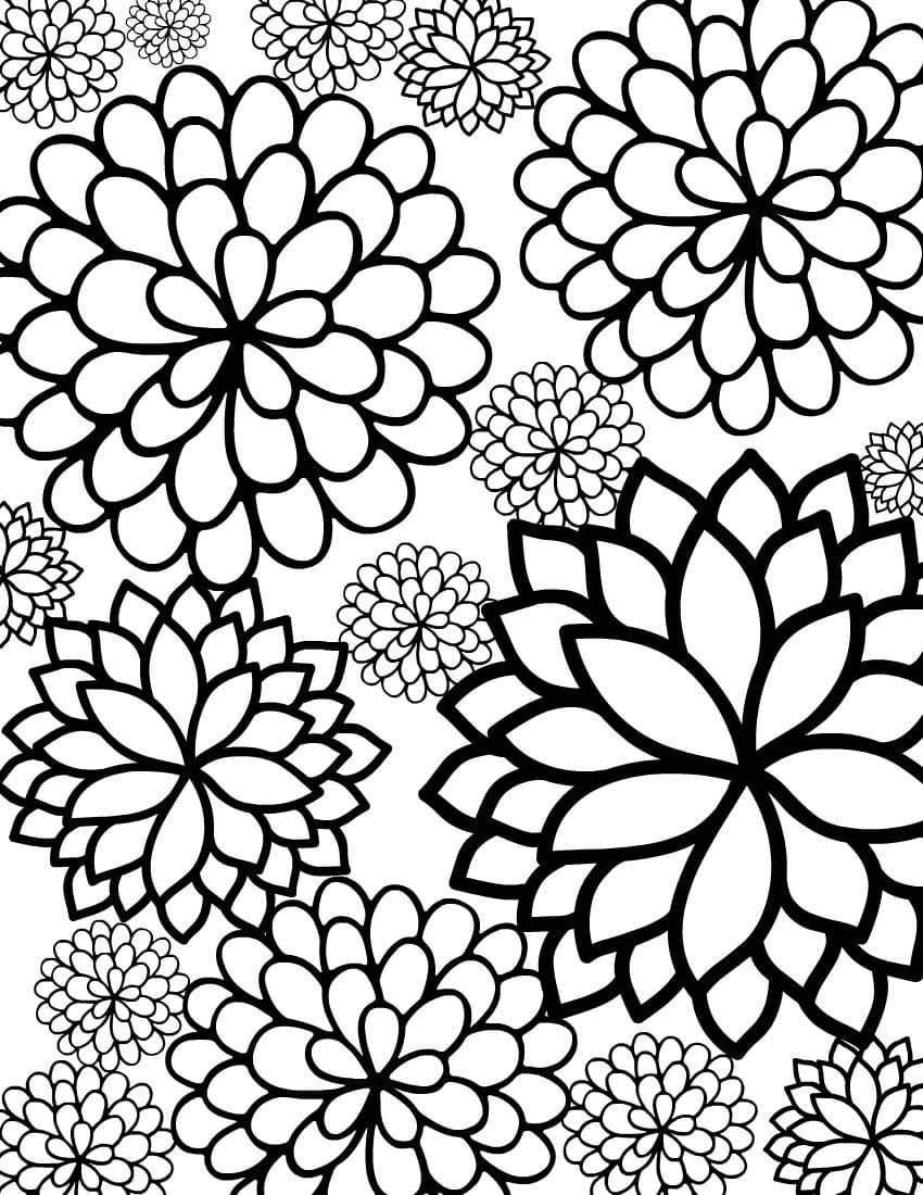 beautiful garden coloring page free printable coloring pages - HD 850×1100