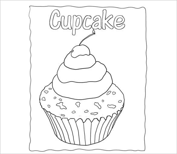 Cake Outline Printable