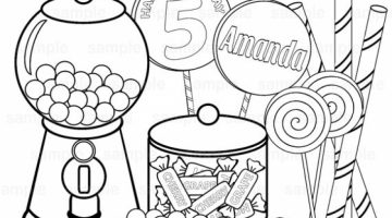 Candy Images To Color