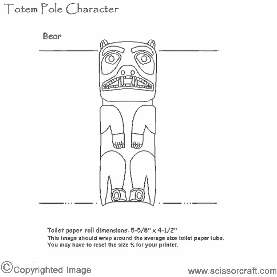 Recycled Cardboard Tube Bear Totem Pole Craft - NEO Coloring