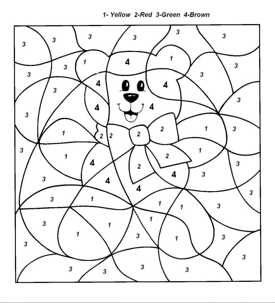 Cartoon Characters Coloring Pages Numbers For Multiplication Color