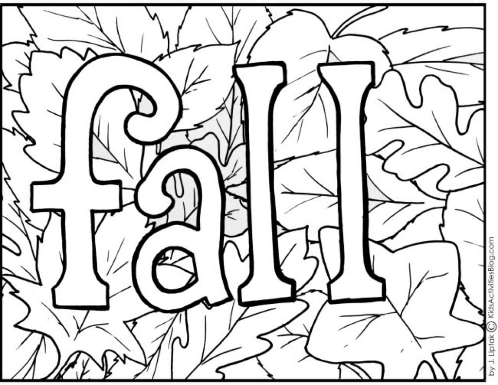 Coloring Pages About Fall Free Coloring Library