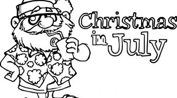 Christmas In July Coloring Pages