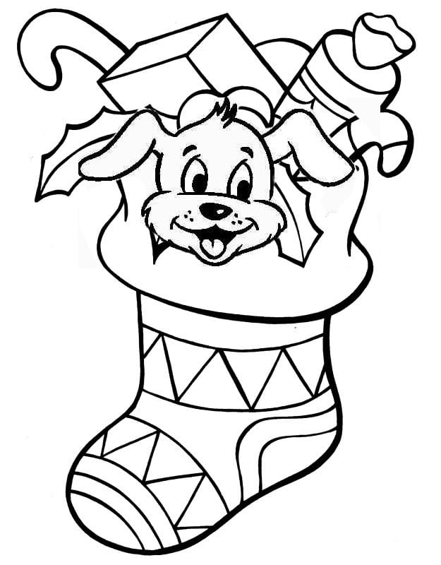 Christmas Stocking Coloring Pages Printable