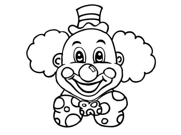Coloring Pages Clown Face