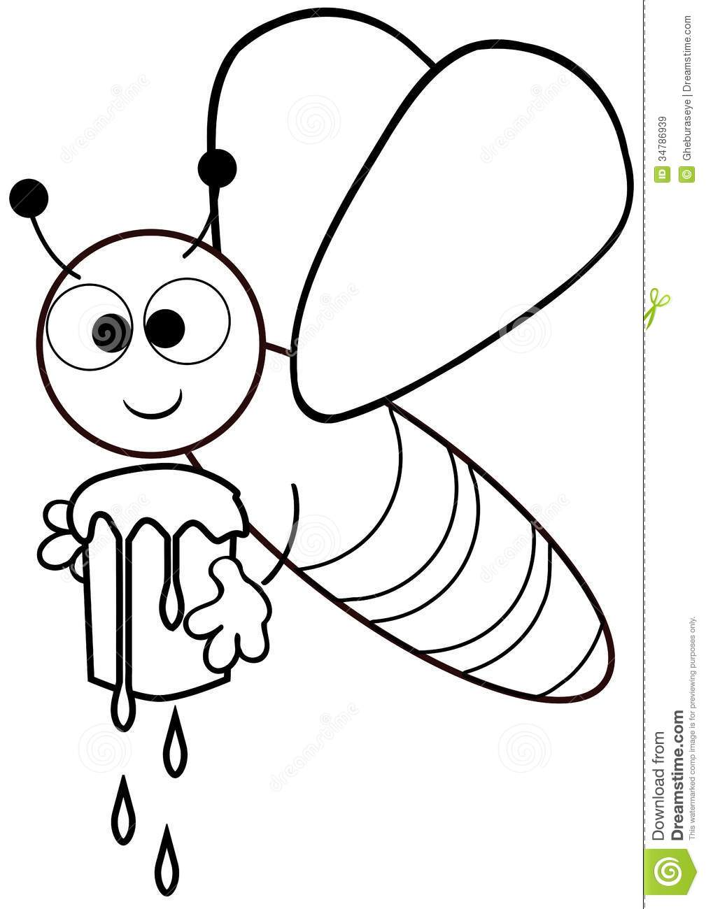Color The Bee Stock Illustration  Illustration Of Happy