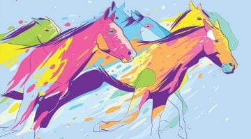 Horse Riding Pictures To Color