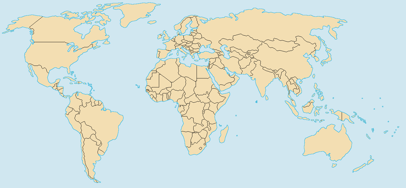 File Color World Map Png