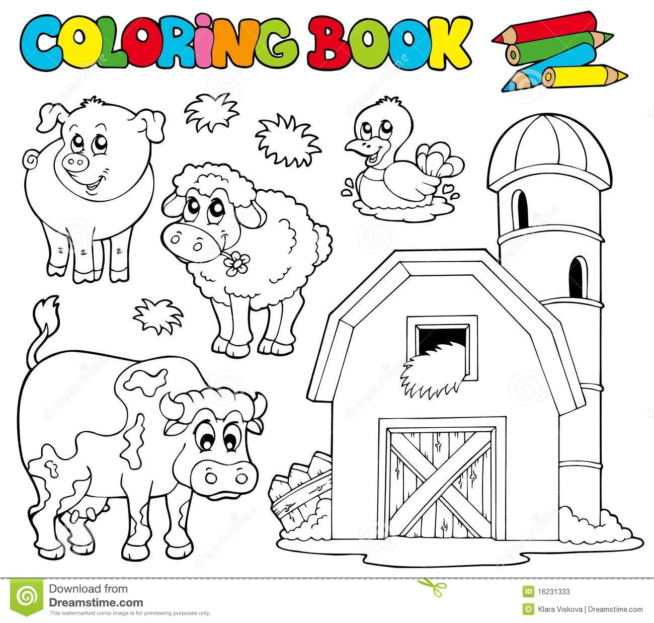 Farm Animals Coloring Book Images Amp; Pictures Becuo