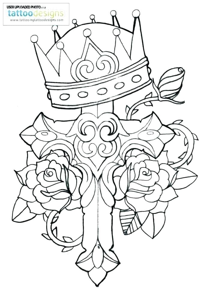 Coloring Pages Crosses Cross Patterns Free Jesus Spectacular