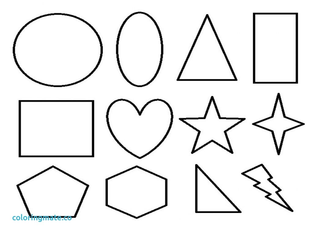 Coloring Pages Of Shapes 12 13663 New Shape