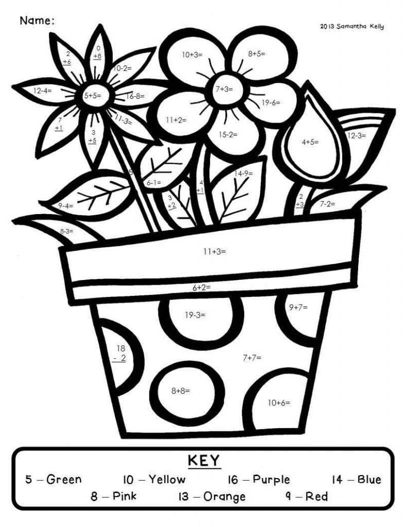 Grade Subtraction Coloring Pages