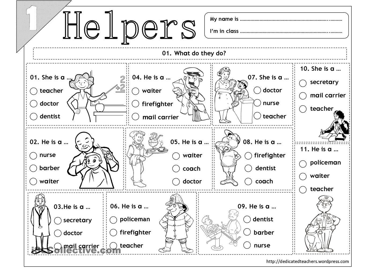 Community Helpers Worksheets Preschool Worksheets For All