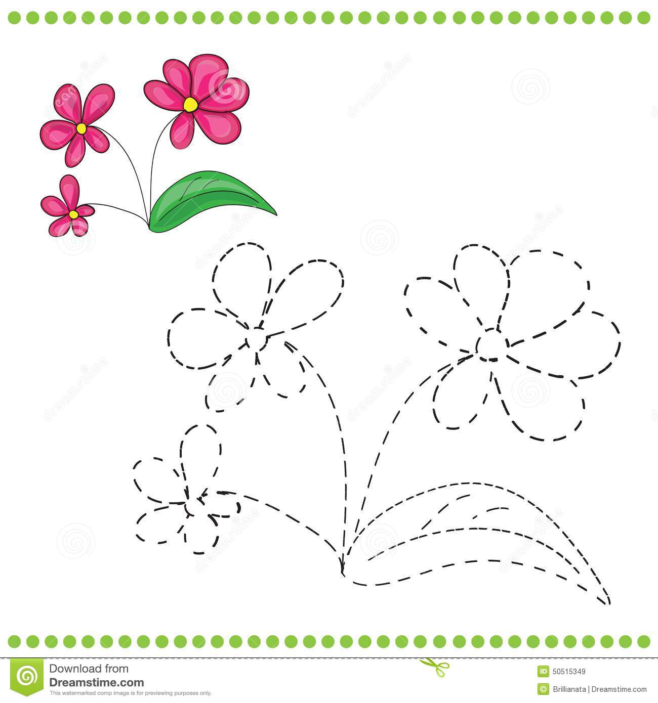 Connect The Dots And Coloring Page Illustration 50515349