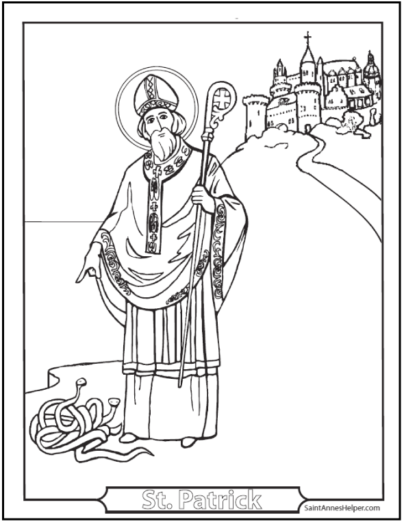 Cool St Patrick Coloring Pages 55 In With St Patrick Coloring