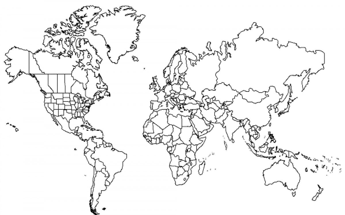 Copy World Map To Color 6